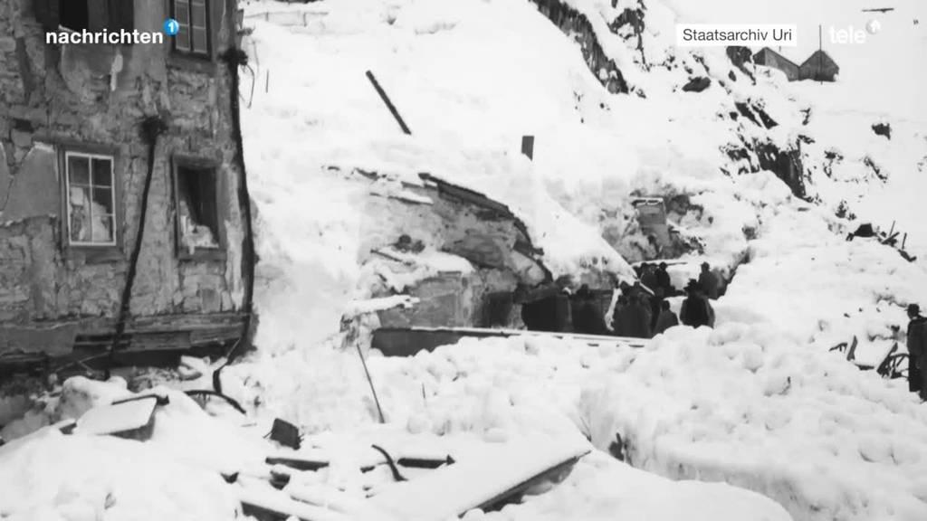 Vor 70 Jahren: Das grosse Lawinenunglück in Andermatt