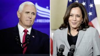 Mike Pence (l) gegen Kamala Harris: Der Republikaner und die Demokratin duellieren sich in der Nacht auf Donnerstag (Schweizer Zeit) im US-Fernsehen. Wegen ihren jeweiligen Chefs, bekommt die Debatte eine nie dagewesene Brisanz.