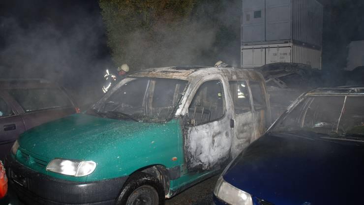 Zum Brand kam es auf einem ehemaligen Firmengelände in Oberbuchsiten