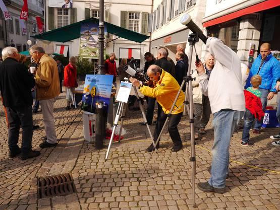 Die Astronomische Gesellschaft Solothurn zeigt die Sonne und Venus