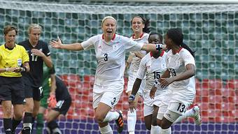 Der erste Olympia-Jubel 2012: Englands Stephanie Houghton traf.