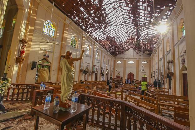Verwüstet: Die St.-Sebastians-Kirche in Negombo.