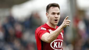 Der frühere FCA-Stürmer Patrick Rossini spielt seit Ende Januar für den FC Chiasso.