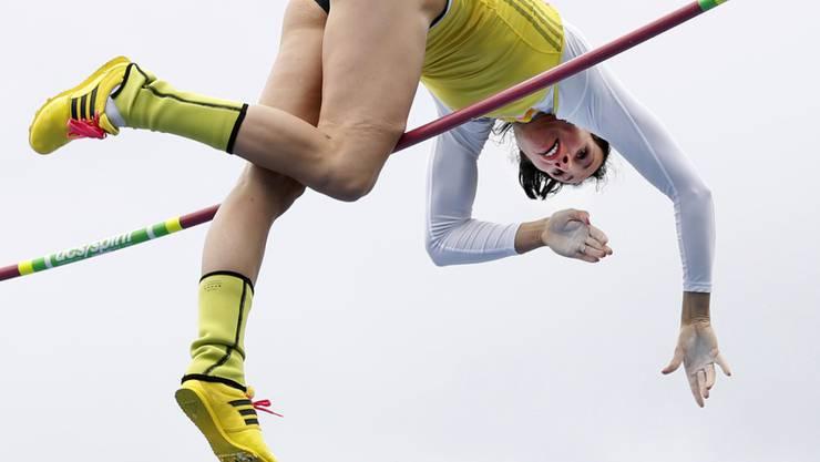 Jennifer Suhr startete gleich mit einem Weltrekord in die Olympiasaison
