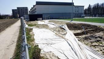 Rund um das Sportzentrum wird in den nächsten Monaten fleissig gebaut, und auch Sportfelder werden verschoben.