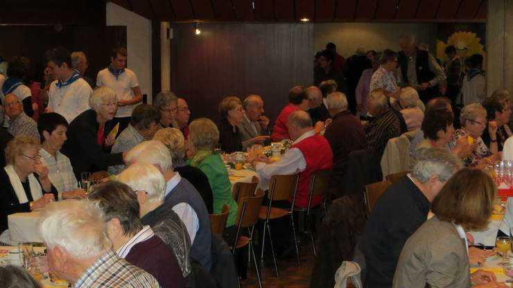 Die Festgemeinschaft anlässlich 75 Jahren Seniorenverein Frenkendorf und Umgebung.