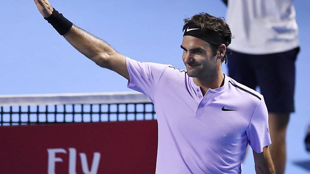 Am Ende jubelte einmal mehr Roger Federer