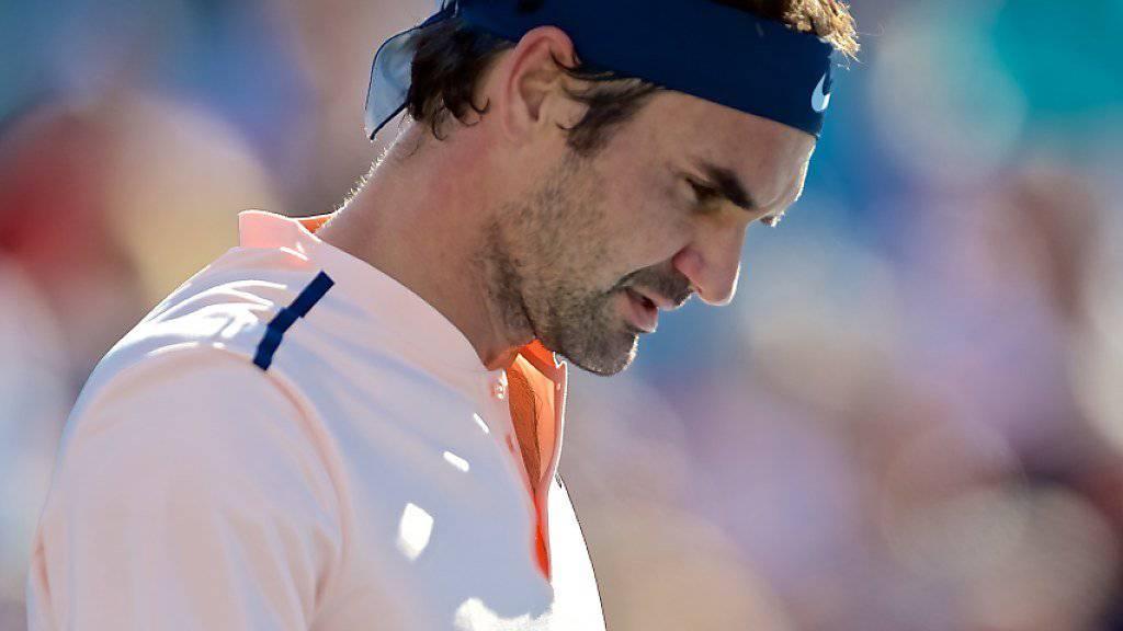 Schlechte Nachrichten von Roger Federer: Der Basler kann beim ATP-Turnier in Cincinnati nicht mittun