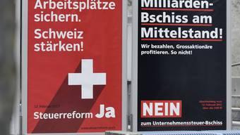 Am Ende abgelehnt: Die Vorlage zur Unternehmenssteuerreform III. (Archivbild)