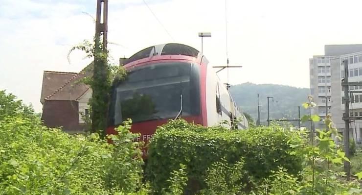 Der Lokführer fuhr mit rund 5 bis 10 km/h in den Prellbock.