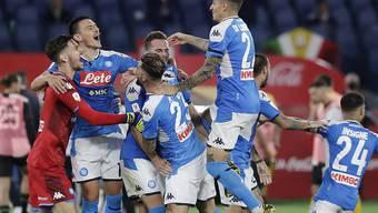Grosser Jubel bei Napoli: Das Team von Gennaro Gattuso wurde zum sechsten Mal italienischer Cupsieger