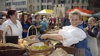 Die Marktverkäufer werden historische Gewändern anhaben. Und auch Besucher können sich Kleider leihen.