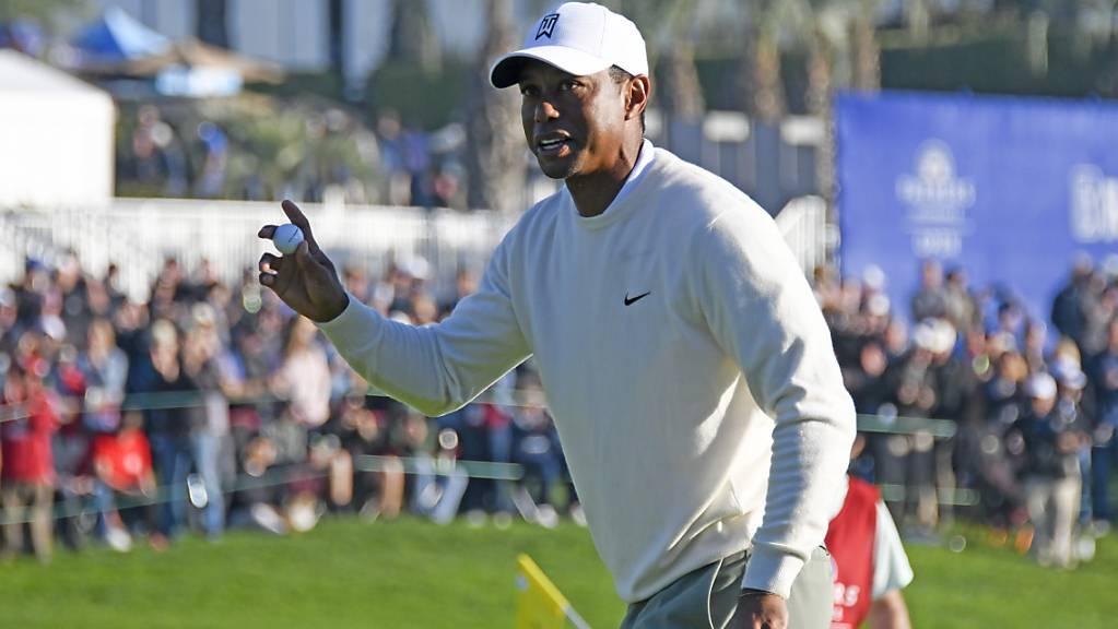 Tiger Woods gab sich in San Diego leutselig