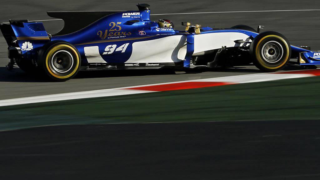 Pascal Wehrlein drehte seine Runden im Sauber C36