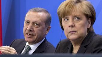 Präsident Erdogan, Kanzlerin Merkel: Beziehungen belastet? (Archiv)