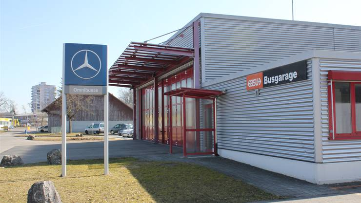 Es wird eng in der BSU-Busgarage – die Halle soll erweitert werden.