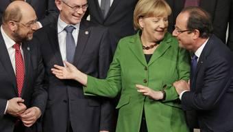 Martin Schulz, Herman Van Rompuy, Angela Merkel, François Hollande