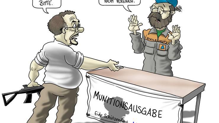 Der befohlene Helfer-Einsatz am Eidgenössischen Schützenfest 2010 stösst auf Widerstand. (AGR)