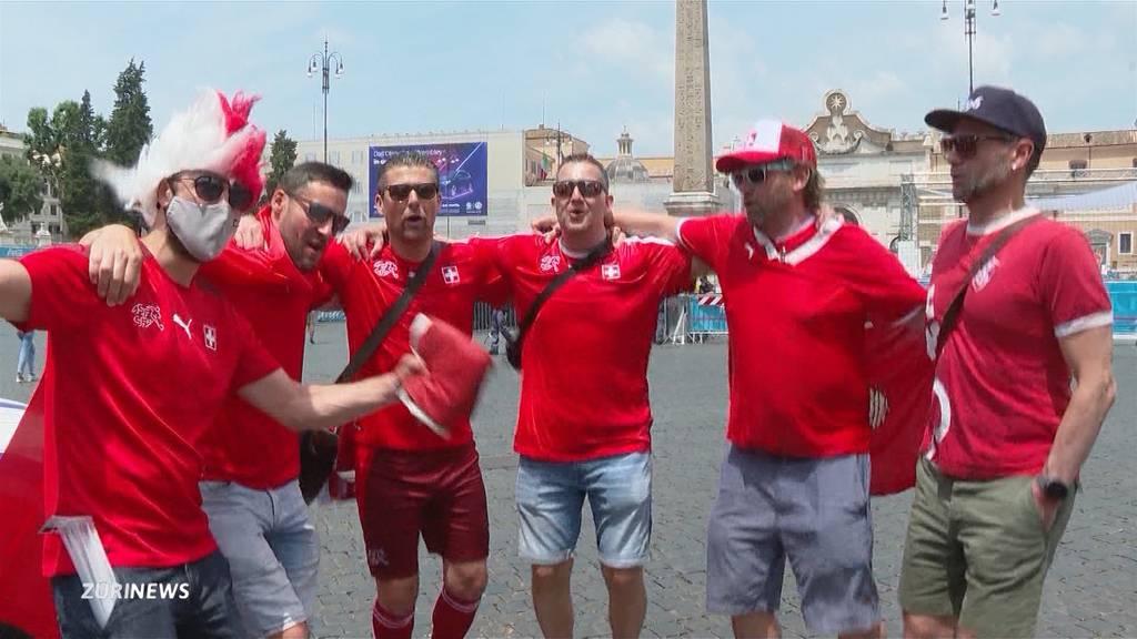 Vor dem Topspiel: Fussball-Fans in Rom zeigen sich zuversichtlich