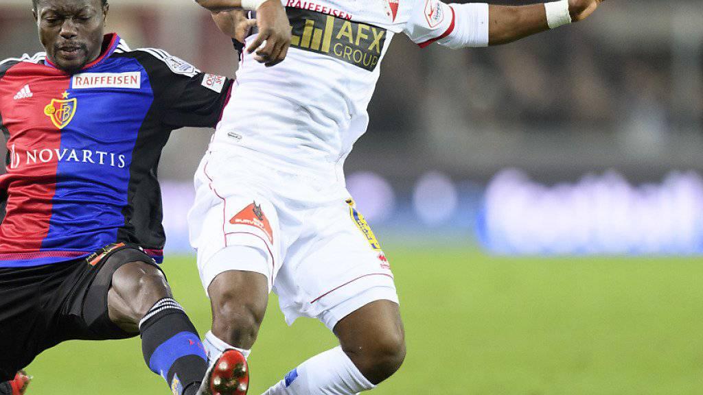 Ebenezer Assifuah (rechts) wechselt in die Ligue 2