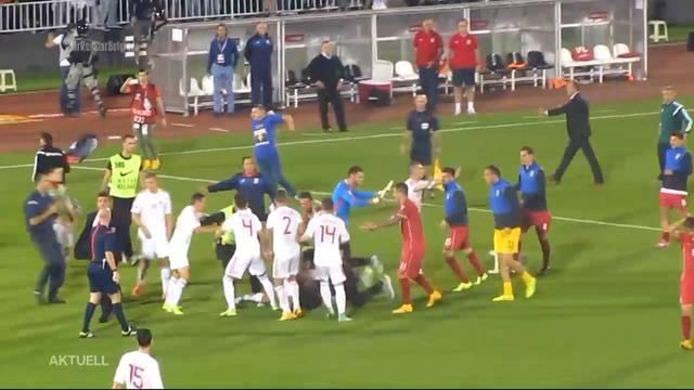 Grosse Spannungen beim Match Schweiz-Serbien erwartet