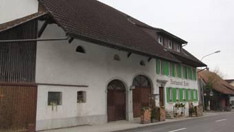 Im Restaurant Linde in Birr wird die Wall of Birr eingerichtet. (Archivbild)