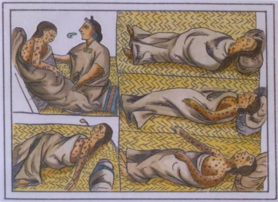Indigene Opfer der Cocoliztli-Epidemie.