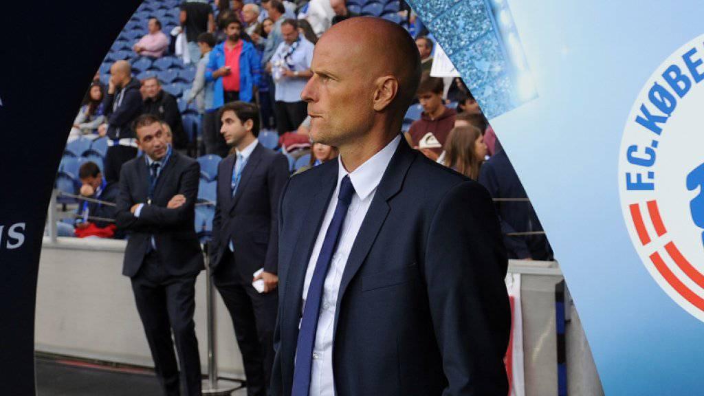 Auf das Team von Kopenhagens Trainer Stale Solbakken  wartet mit dem Gastspiel beim englischen Meister Leicester City ein grosser Härtetest