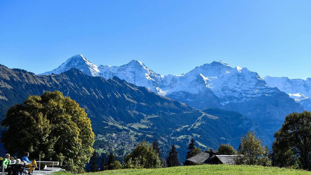 Die Schweizer Alpen wachsen immer noch in die Höhe. (Im Bild: Eiger, Mönch und Jungfrau.)