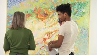 Die Besucher hatten die Aufgabe, die Werke selber zu interpretieren. psc