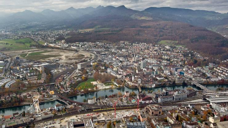 Luftaufnahme der Stadt Olten