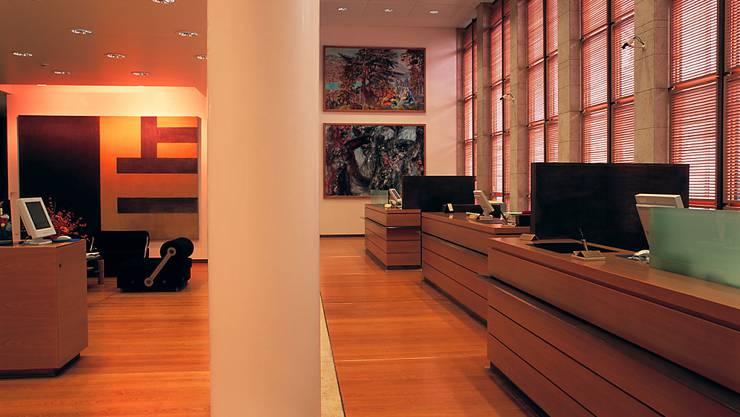 Gediegene Schalterhalle einer Schweizer Privatbank. (Archivbild)