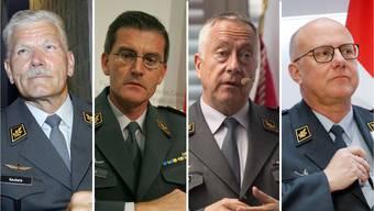 Keckeis, Nef, Blattmann, Rebord - die Schweizer Armee hatte vier Chefs in den letzten 15 Jahren.
