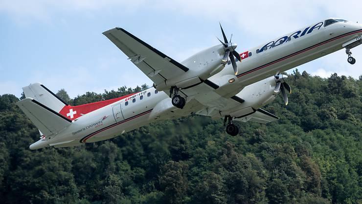 Ein Bild aus vergangenen Tagen: ein Flugzeug der Adria Airways in der Luft (Archivbild).