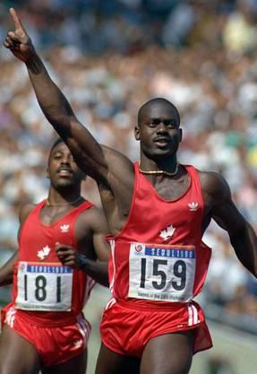Gedopt zum Weltrekord: Der Kanadier Ben Johnson lief in Seoul 1988 mit 9,79 Sekunden Weltrekord. Weil er Steroide nahm, wurde ihm die Goldmedaille aberkannt.