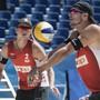 Adrian Heidrich (vorne) und Mirco Gerson stehen als Gruppensieger im WM-Sechzehntelfinal