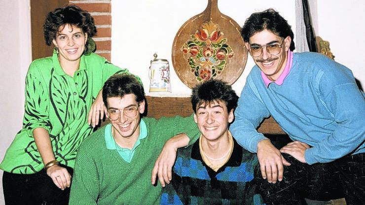 Die Geschwister Leuthard Doris, Fabian, Maurus und Thomas