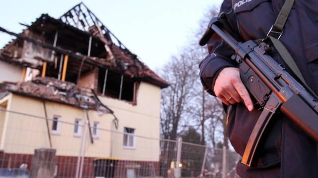 Die ausgebrannte Wohnung der Täter im ostdeutschen Zwickau (Archiv)