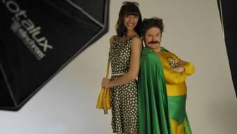 Irmela Sabotic posiert für die neue Battery-Man Kampagne