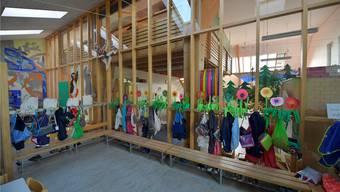 Der Kindergarten Stellihof – links der Raum Ost, wo noch die Spielgruppe Pingu untergebracht ist.