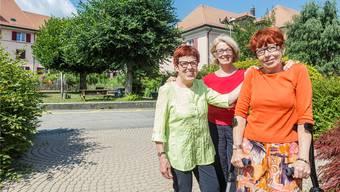 Silvia, Odette und Edith Sommer (v. l.) prägten zusammen mit der «Generation Dilitsch» das kleine Solothurner Quartier mit.