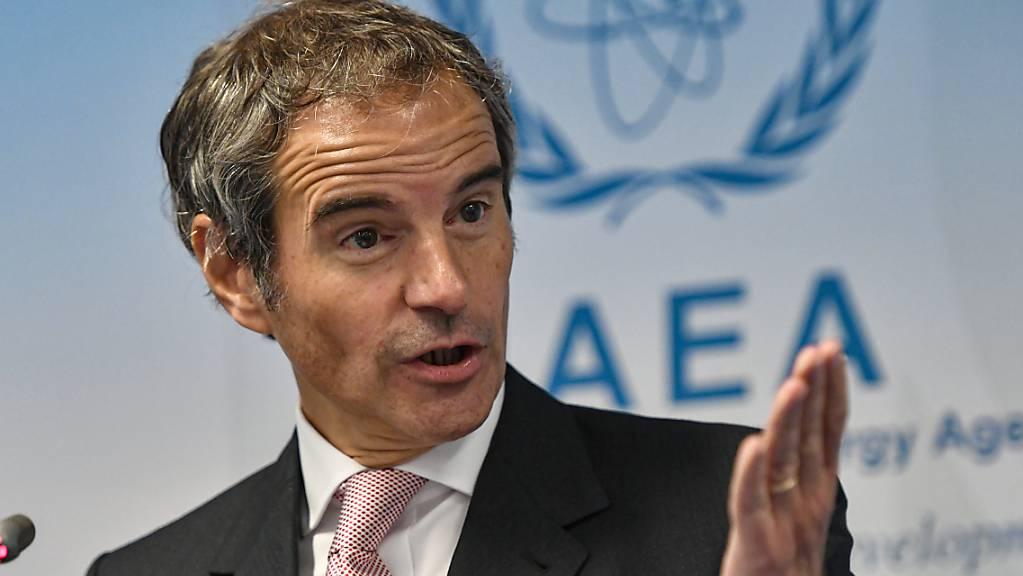 Rafael Grossi, Generaldirektor der Internationalen Atomenergiebehörde (IAEA), spricht bei einer Pressekonferenz.