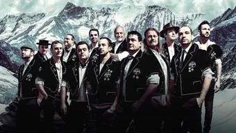 Die Gruppe Heimweh: Kein Jodlerchor, sondern ein Männerchor im Trachtenlook.