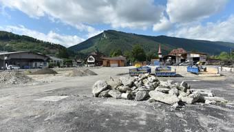 Aufgeräumt: So sieht es aktuell auf dem inzwischen von den Brandspuren befreiten Sagi-Areal in Balsthal aus.