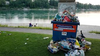 Abfall überall: So sieht es im Sommer am Birsköpfli aus.
