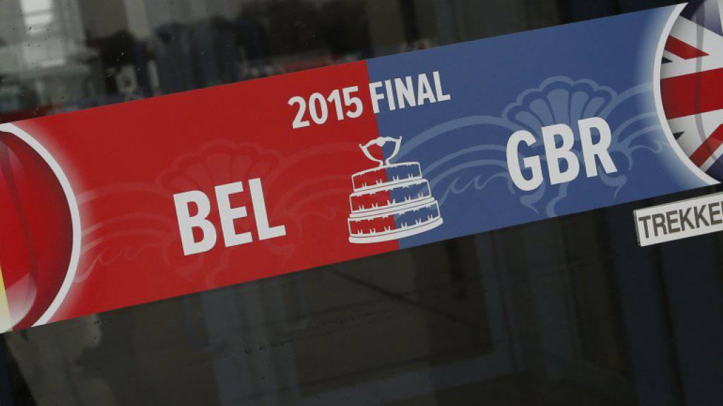 Gastgeber Belgien und Grossbritannien kämpfen in Gent um die Nachfolge der Schweiz als Davis-Cup-Gewinner