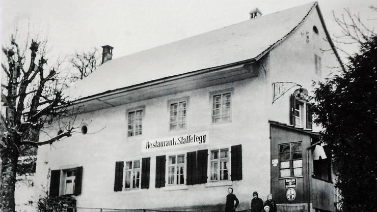 Das alte Restaurant zur Staffelegg in der Asper Hübelmatt (Aufnahme um 1930).