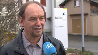 SP-Ortspräsident Reto Karich am Dienstag im Interview mit Tele M1.