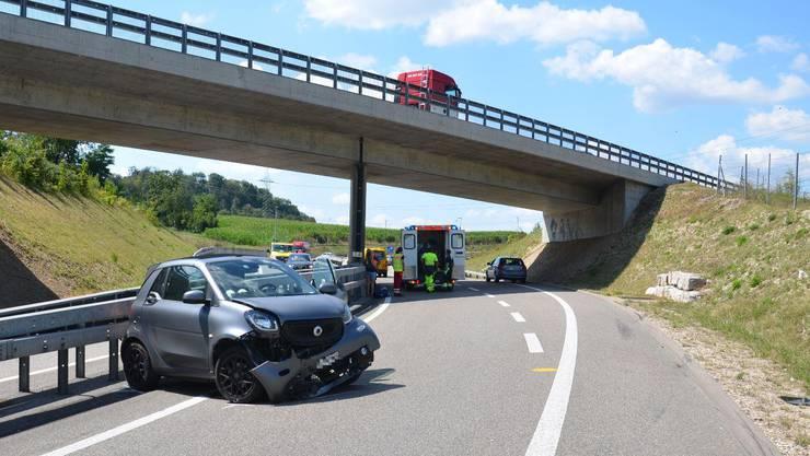 In Füllinsdorf verunfallte ein 29-Jähriger auf der Autobahn.