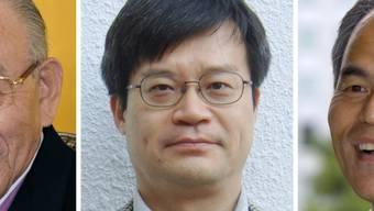 Die Physik-Nobelpreisträger (v.l.) : Akasaki, Amano und Nakamura.
